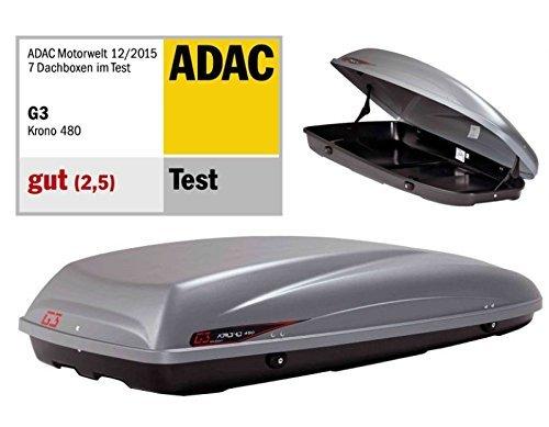dachbox g3 krono 480 grau auto dachkoffer gepaeckbox - DACHBOX G3 KRONO 480 GRAU - AUTO-DACHKOFFER - GEPÄCKBOX